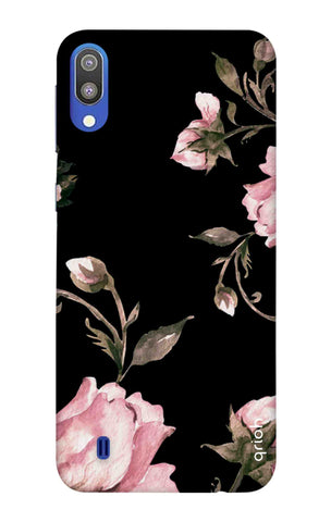 Pink Roses On Black Samsung Galaxy M10 Cases & Covers Online