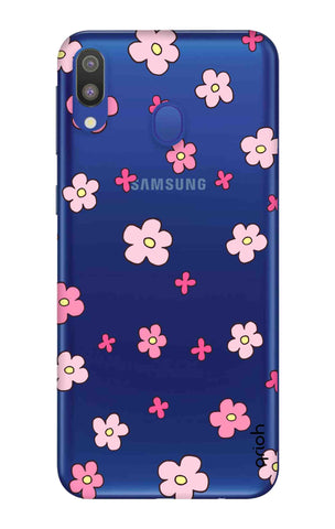Pink Flowers All Over Samsung Galaxy M20 Cases & Covers Online