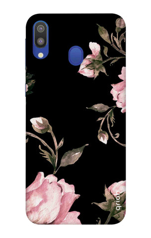 Pink Roses On Black Samsung Galaxy M20 Cases & Covers Online