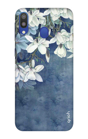 White Flower Samsung Galaxy M20 Cases & Covers Online