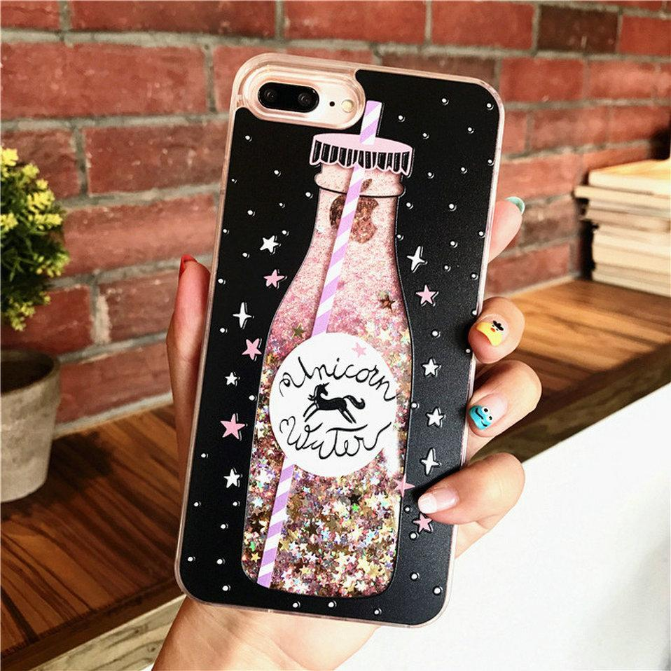 iphone 5a case water glitter qrioh 11068