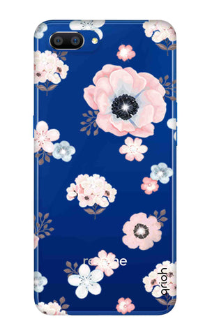 Beautiful White Floral Realme C1 2019 Cases & Covers Online