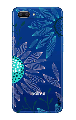 Pink And Blue Petals Realme C1 2019 Cases & Covers Online