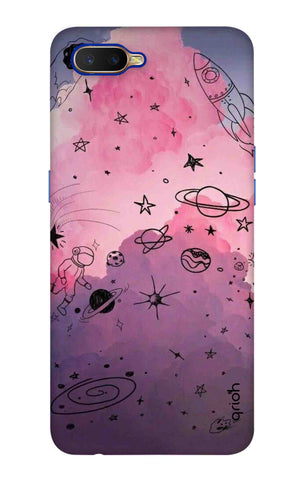 Space Doodles Art Oppo K1 Cases & Covers Online