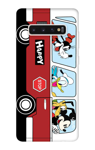 Cartoon Bus Samsung Galaxy S10 Cases & Covers Online