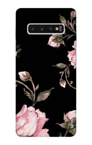 Pink Roses On Black Samsung Galaxy S10 Cases & Covers Online