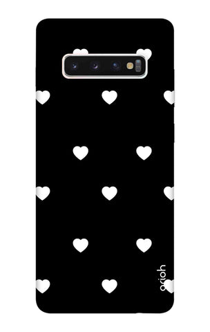 White Heart Samsung Galaxy S10 Cases & Covers Online