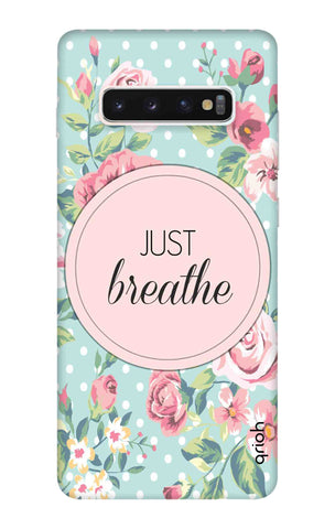 Vintage Just Breathe Samsung Galaxy S10 Plus Cases & Covers Online