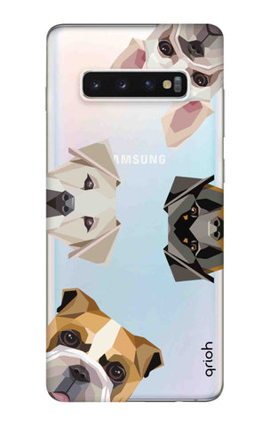 Geometric Dogs Samsung Galaxy S10 Plus Cases & Covers Online