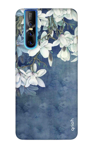 White Flower Vivo V15 Pro Cases & Covers Online