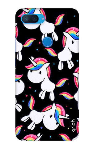 Colourful Unicorn Xiaomi Mi 8 Lite Cases & Covers Online