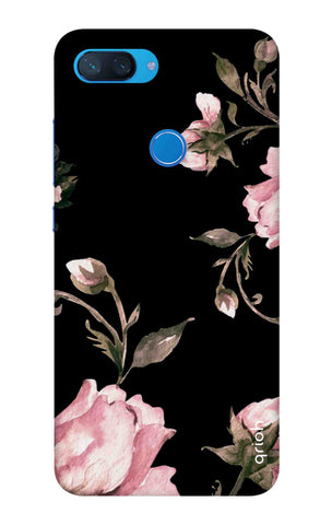 Pink Roses On Black Xiaomi Mi 8 Lite Cases & Covers Online