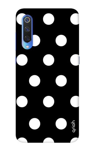 White Polka On Black Xiaomi Mi 9 SE Cases & Covers Online