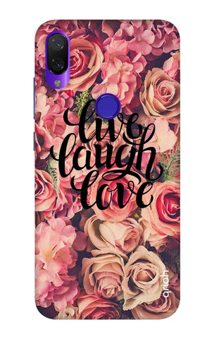 Floral Live, Laugh, Love Xiaomi Mi Play Cases & Covers Online