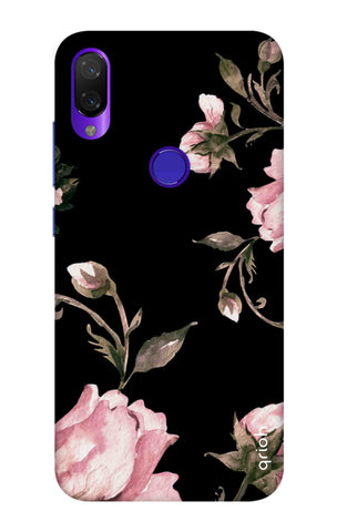 Pink Roses On Black Xiaomi Mi Play Cases & Covers Online