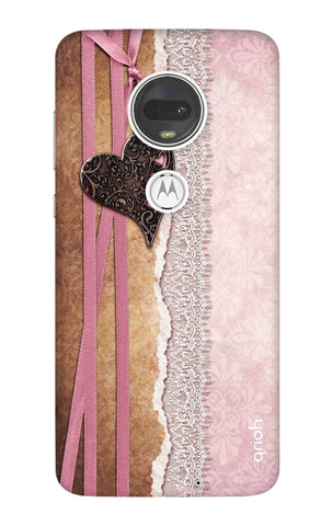 Heart in Pink Lace Motorola Moto G7 Cases & Covers Online