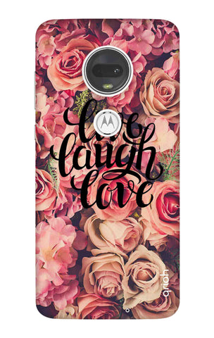 Floral Live, Laugh, Love Motorola Moto G7 Cases & Covers Online