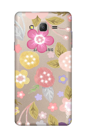 Multi Coloured Bling Floral Samsung ON7 Cases & Covers Online