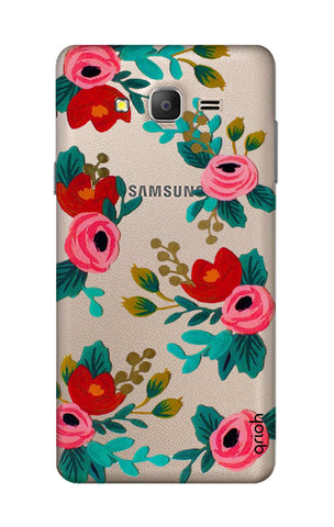 Red Floral Samsung ON7 Cases & Covers Online