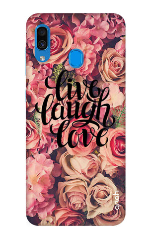 Floral Live, Laugh, Love Samsung Galaxy A30 Cases & Covers Online