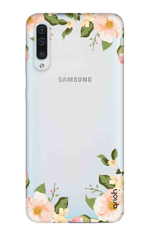 Flower In Corner Samsung Galaxy A50 Cases & Covers Online