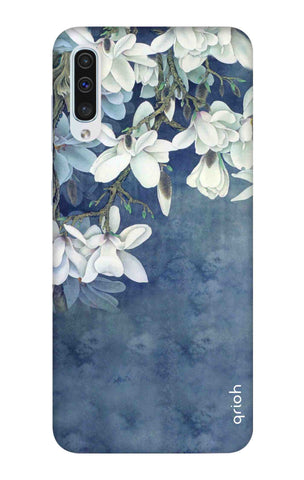 White Flower Samsung Galaxy A50 Cases & Covers Online