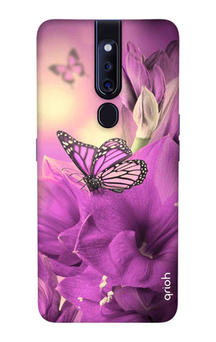 Purple Butterfly Oppo F11 Pro Cases & Covers Online