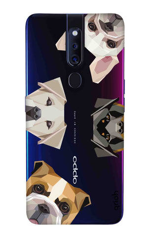 Geometric Dogs Oppo F11 Pro Cases & Covers Online