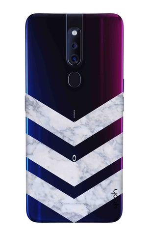 Marble Chevron Oppo F11 Pro Cases & Covers Online