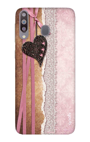 Heart in Pink Lace Samsung Galaxy M30 Cases & Covers Online