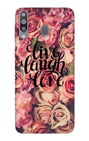 Floral Live, Laugh, Love Samsung Galaxy M30 Cases & Covers Online