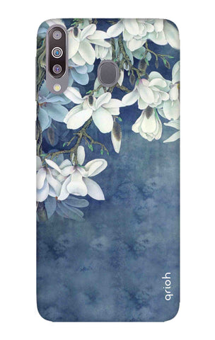 White Flower Samsung Galaxy M30 Cases & Covers Online