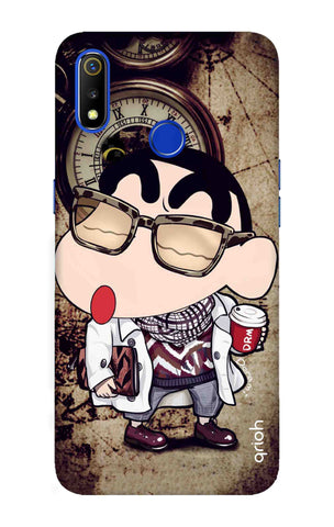 Nerdy Shinchan Realme 3 Cases & Covers Online