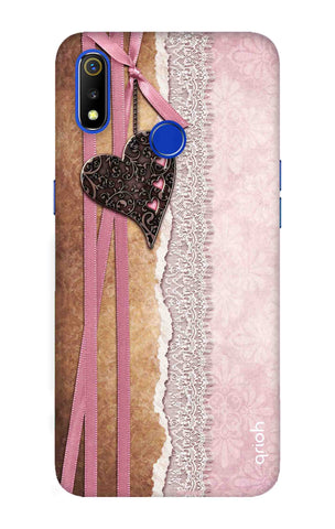 Heart in Pink Lace Realme 3 Cases & Covers Online