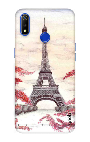 Eiffel Art Realme 3 Cases & Covers Online