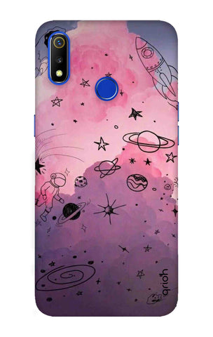 Space Doodles Art Realme 3 Cases & Covers Online