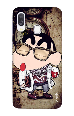 Nerdy Shinchan Samsung Galaxy A40 Cases & Covers Online