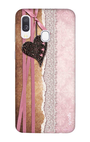 Heart in Pink Lace Samsung Galaxy A40 Cases & Covers Online
