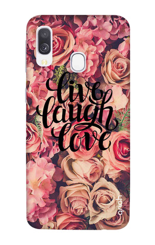 Floral Live, Laugh, Love Samsung Galaxy A40 Cases & Covers Online