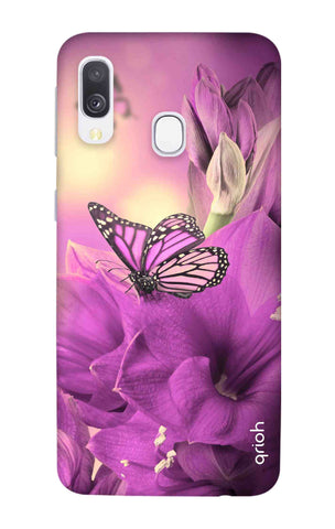 Purple Butterfly Samsung Galaxy A40 Cases & Covers Online