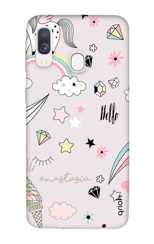 Unicorn Doodle Samsung Galaxy A40 Cases & Covers Online
