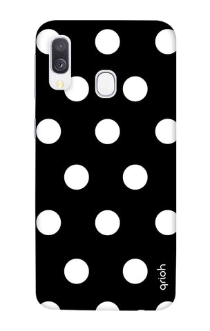 White Polka On Black Samsung Galaxy A40 Cases & Covers Online