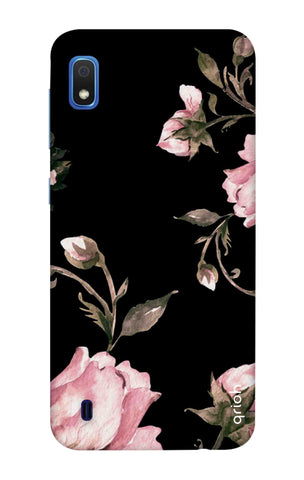 Pink Roses On Black Samsung Galaxy A10 Cases & Covers Online