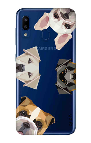 Geometric Dogs Samsung Galaxy A20 Cases & Covers Online