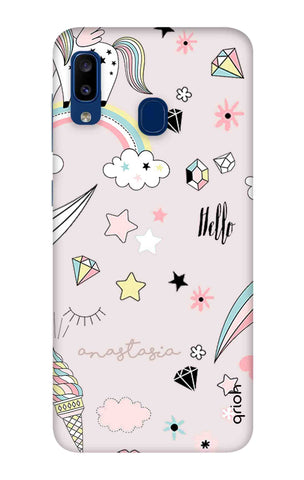 Unicorn Doodle Samsung Galaxy A20 Cases & Covers Online