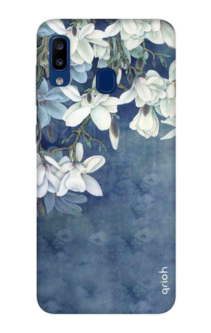 White Flower Samsung Galaxy A20 Cases & Covers Online