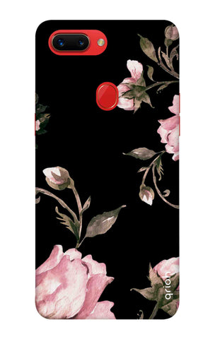 Pink Roses On Black Oppo R15 Pro Cases & Covers Online