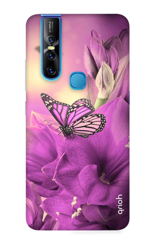Purple Butterfly Vivo V15 Cases & Covers Online