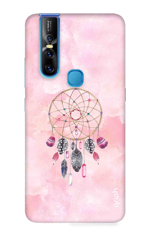Pink Dreamcatcher Vivo V15 Cases & Covers Online