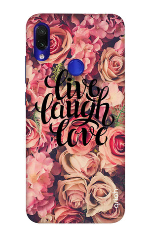 Floral Live, Laugh, Love Xiaomi Redmi Note 7 Pro Cases & Covers Online
